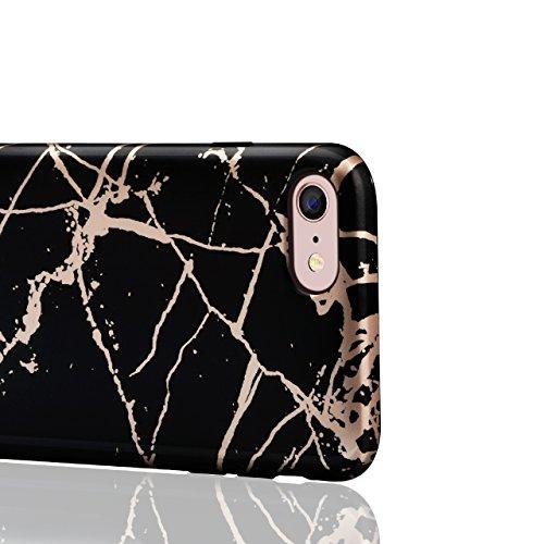 Custodia per iPhone 6 Plus/6S Plus 5.5 Matte Marble - Bonice Marmo Disegni Ultra Sottile Slim Silicone Morbida Opaca Gel TPU Antiurto Antishock Protettiva Cover Case per iPhone 6S Plus/6 Plus - Blu 0 Marble-Cover-03
