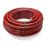 Pipetec Aluverbundrohr Aluminium Mehrschichtverbundrohr 16x2 mm 6mm rot 50m Isolierung PEX Mehrschicht-Verbundrohr MV-Rohr Mehrschichtrohr Heizung Wasser