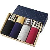 Quicksilk Herren 4 Pack Bambusfaser Unterhose, Multi-4pack-04, Gr. EU Large (Herstellergröße: 4XL)