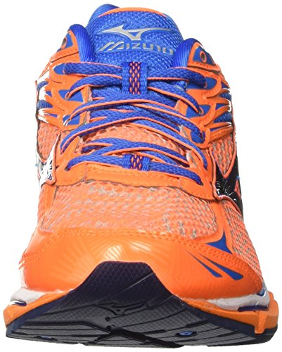 Mizuno Wave Enigma, chaussures de course homme Multicolore (Clownfish/DressBlues/DirectoireBlue)