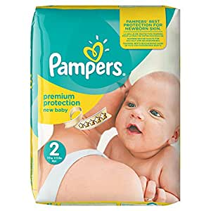 Pampers Premium Protection Nappies New Baby Monthly Saving Pack - Size 2, Pack of 240