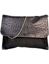 Designer Black PU Leather Sling Bag For Women & Girls By Bagris GE01001699