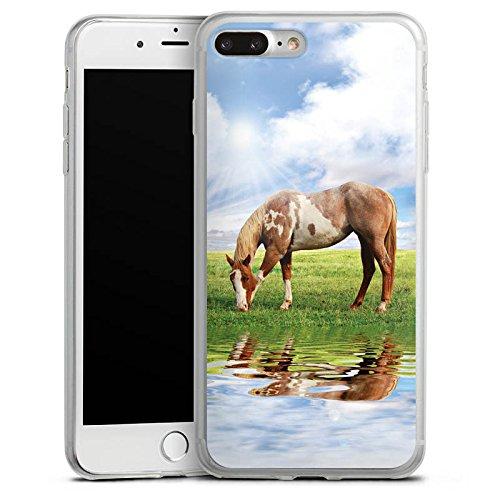 Apple iPhone 8 Slim Case Silikon Hülle Schutzhülle Ponny Pferd Stute Silikon Slim Case transparent