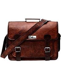 Znt Bags , 15 Inch Genuine Leather Laptop Office Messenger Bag For Men & Women NO - 1141