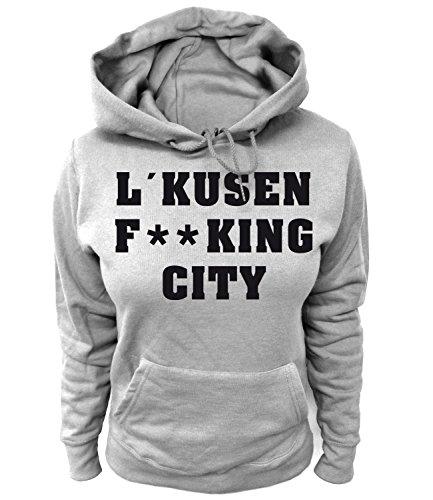 Artdiktat Damen Hoodie - Leverkusen Fucking City Größe S, Grau