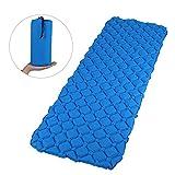 GWHOLE Camping Luftmatratze Aufblasbar für Wandern Outdoor Zelt blau, 190 x 66 cm