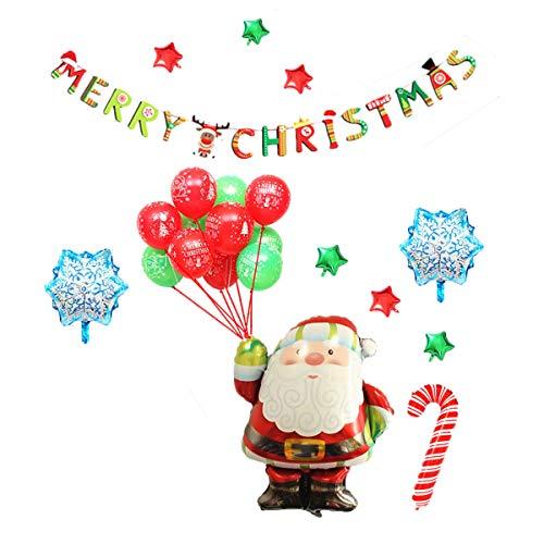 1 stück Weihnachtsballon Set Folie Party Weihnachtsmann Ballon Kit Festival Weihnachtsfeier Liefert Dekorationen Requisiten -