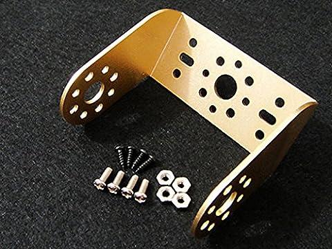 Cloud Sensor Aluminum Offset Servo Bracket Kit Gold