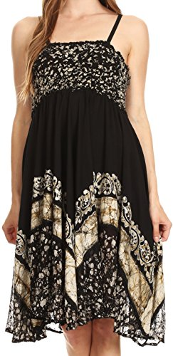 Sakkas Aphrodite Robe Batik Brodée Noir blanc