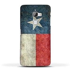 FUNKYLICIOUS Le Max Back Cover Texas State Flag Retro vintage Design (Multicolour)