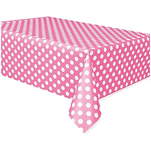 Pois Rosa in plastica per tavolo panno pulire partito Tovaglia Covers Panni a pois Tovaglia