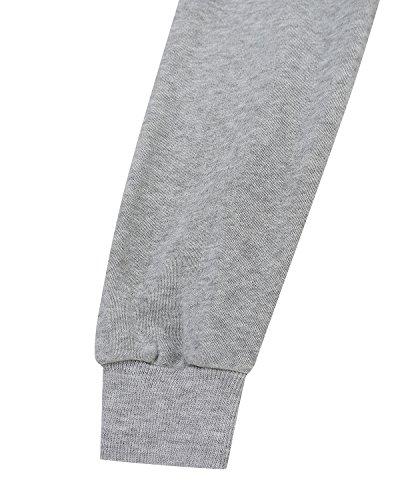 StyleDome Donna Cappotto con Cappuccio Manica Lunga Cerniera Moda Autunno Outerwear Nuovo Casual Cardigan Elegante Più Dimensioni Grigio 1