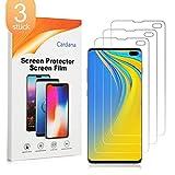 Cardana 3X Samsung Galaxy S10 Plus Schutzfolie, Bildschirmschutzfolie[ Volle Abdeckung ][Einfache blasenfreie Installation] Panzerglasfolie, extrem langlebige Folie Transparent