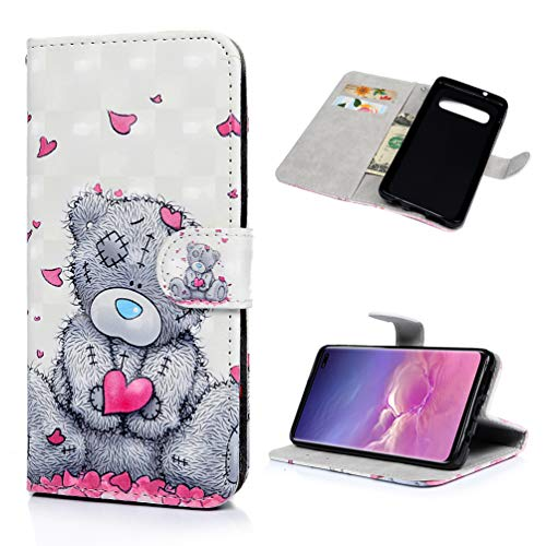 WaackGG S10+ Handyhülle Handytasche Kompatible mit Samsung Galaxy S10+/S10 Plus Hülle PU Leder...
