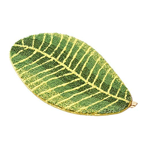 SH-Flying Green Leaf Shaped Anti-Rutsch-Matten, Anti-Rutsch-Matten Home Anti-Rutsch-Matten Innovative Küche Badezimmer-Matten für Bad Rutschfeste Boden Set