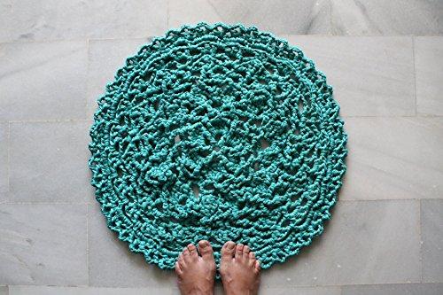 18 Teppich (Türkisfarbenen Teppich häkeln, 18