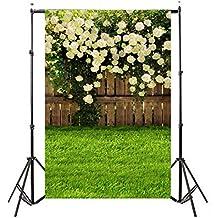 Sannysis Pro Fondo fotográfico 90*150cm, Plegable Telón de Fondo de bebé prop para fotografía estudio Profesional para Vídeo y Televisión, Verde, Incluye únicamente el Fondo