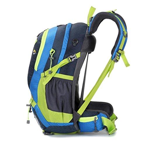 Z&N Backpack Nylon Impermeabile Artificiale Arrampicata All'Aperto Zaino Borsa A Tracolla Sportiva Grande 45L Capienza Con I Sacchetti Di Stand Borse Scuola Borse Viaggio L'Uso Quotidiano B 45L C