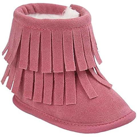 Transer® Baby Keep Warm Double Deck borlas suela suave suave cuna botas de nieve botas zapatos