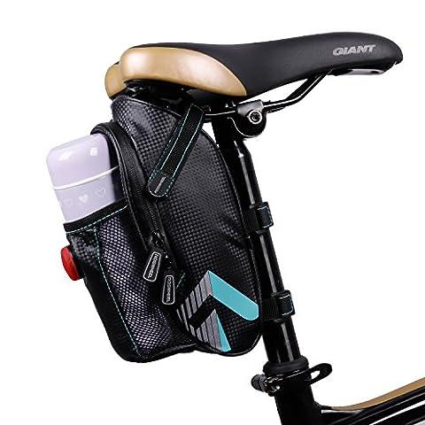 Vélo à LED Assise Lot Sac de selle, West Biking Vélo étanche Gode Ceinture Petit sac de cyclisme avec lumière, Homme Enfant femme, Waterproof with Light
