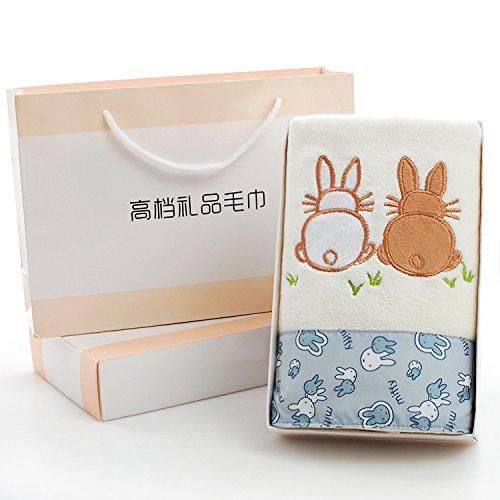 ZHFC handtuch - box single hochzeit geburtstag brechend voll mond rückkehr company kleine geschenke 74x34cm,karte rabbit white box, hand - tasche,74x34cm
