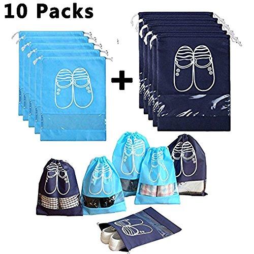 household-travel-dust-proof-shoe-organizer-bagsdrawstringtransparent-windowspace-saving-storage-bags