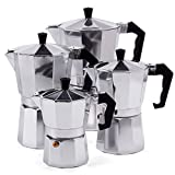 Espressokocher Espresso Mokka Maker Aluminium für 3,6,9 oder 12 Tassen Espressomaschine (12 Tassen)