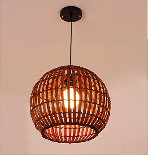 illumination KD Rattan Kreative Minimalistische Restaurant Wohnzimmer Café Holz Kronleuchter, Braun 35 * 25 Cm Pine Cone Fan