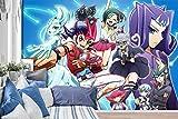 3D Yu-Gi-Oh 386 Japan Anime Parete Carta Stampare Decalcomania Deco Interno Adesivo Murale Autoadesiva Carta da Parati IT Zoe (Carta intrecciata (bisogno di colla), 【123'x87'】312x219cm(WxH))