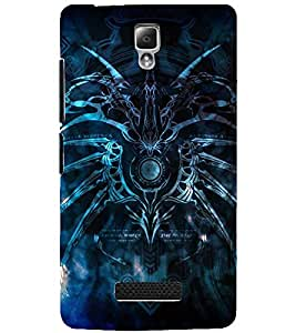 PrintDhaba SPIDER SHADOW D-6611 Back Case Cover for LENOVO A2010 (Multi-Coloured)