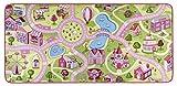 HANSE Home Spielteppich Kinderteppich Sweettown, Polyamid, Rosa, 90 x 200 x 0.65 cm