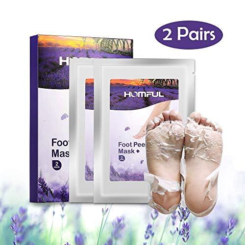 Fuß peeling maske,Füße Maske,Fuß Peeling Socken,2 Paar Foot Maske Lavendel duftende natürliche Peeling-Fußreparatur für raue Haut und zur Entfernung von Schwielen in 7 Tagen (Baby Füße Fuß Peeling)