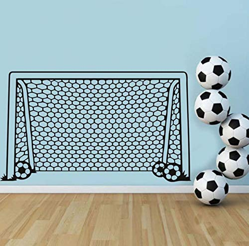 ußball Fußball Tor Net Ball Sport Wandtattoo Vinyl Dekor Kunst Wandaufkleber Für Jungen Zimmer Kinder Kindergarten Wohnkultur Wandbild ()