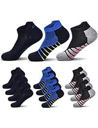 Fullluwaa 6/12 Paar Sneaker Socken Herren Damen Kurze Halbsocken Sportsocken Männer Baumwolle