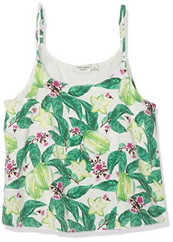 NAME IT Mädchen NKFVINAYA Singlet H Top, Mehrfarbig (Bright White Detail: Big Flower Print), 134 (Herstellergröße: 134-140) - Spaghetti-mädchen-shirt