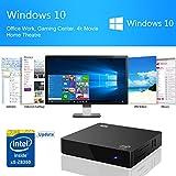 Bqeel Z83 II Mini PC Windows 10 Linux TV Box Mini Desktop-PC / Intel HD-Grafik / 2GB DDR3 + 32GB eMMC / 4K / 1000Mbps LAN / Dual-Band WiFi / Bluetooth 4.0 / USB 3.0 / HDMI / SD (Intel Atom x5-Z8350) - 4