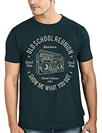 Tantra Mens 100 % Super Soft Combed Cotton Boom Box Print Half Sleeve Printed T-shirt