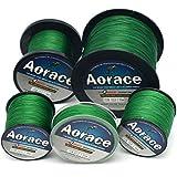 Aorace Braid línea de pesca 35LB fuerte y resistente a la abrasión línea de pesca de fibra 500M material verde oscuro avanzada Superline braied fishing line