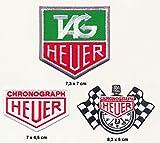 TAG Heuer parche para planchar Patch 3pieza Motorsport carreras Racing Team Turbo Envío