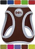 DDOXX Brustgeschirr Step-In Air Mesh reflektierend in vielen Farben & Größen für kleine, mittelgroße & große Hunde | Hundegeschirr klein groß verstellbar | Geschirr Hund Welpen Auto | Braun, XS