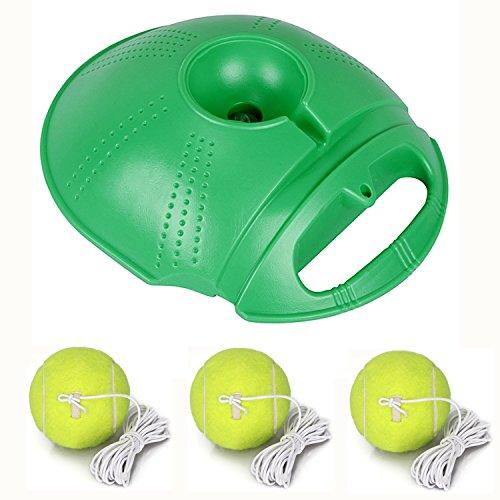 icase4u® Twistballset, Ersatzball mit Karabiner für Twistball-Set Kindersport Twistballspiel Klassischer Swingball Tennistrainer Base & Tennisball (Grün+3 Ersatzball)
