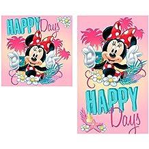 Minnie Mouse Set Doppio Asciugamano Bambini 100%