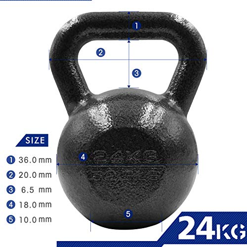 PROIRON-Cast-Iron-kettlebell-Weight-for-Home-Gym-Fitness-Weight-Training-4kg-24kg-1-x-24KG