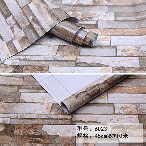 lsaiyy Selbstklebende Tapete PVC Wohnzimmer Schlafzimmer Cartoon Selbstklebende Wandaufkleber Pastorale Selbstklebende Instant klebrige Tapete-45CMX10M