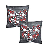 Deko Weihnachtskissen 40x40 cm Kissen mit Sterne aus 100% Polyester tolle Fotodruck Einzeln oder im Doppelpack, Set-Größe:Doppelpack