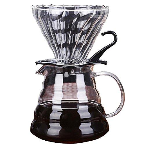 Kaffeezubereiter Pour Over Kaffeekanne Kaffeemaschine mit Dauerfilter und Karaffe 600 ml von...