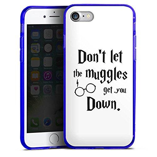 Apple iPhone 7 Silikon Hülle Case Schutzhülle Muggles Statement Harry Potter Silikon Colour Case blau