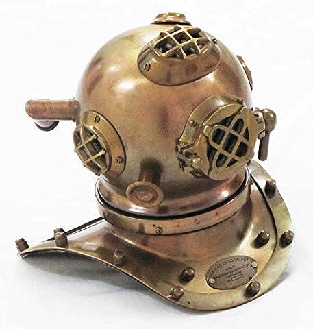 Shiv Shakti Enterprises Antique Finish Nautical Divers Diving Helmet US