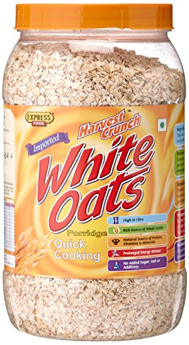 Express Foods White Oats Quick Cooking Jar, 800g Oats & Porridge at amazon