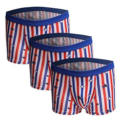 Dingbear XXL Unterwäsche Herren von Pack 3 Trunk Shorts Modal elastische Taille atmungsaktiv Designer Boxershorts Trunks Comfort Fit (Trunk Elastische Taille Microfiber)